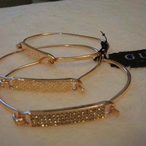 Guess Rose-Gold Tone 3 pc set Plate & Wire Bangle